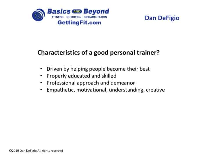 what makes a good personal trainer?