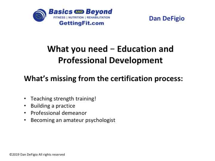 personal trainer certification process
