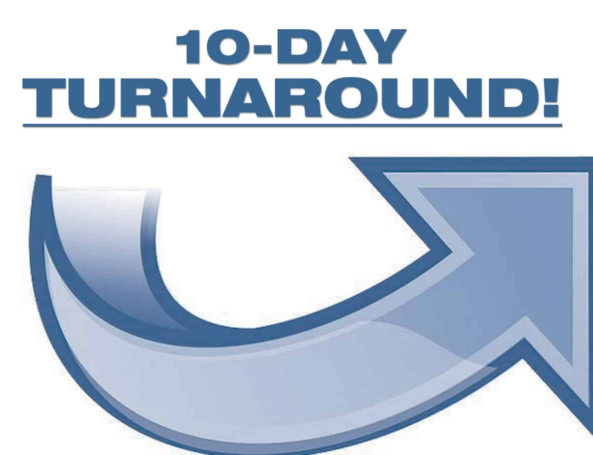 Personal Training Special: 10-Day Turnaround