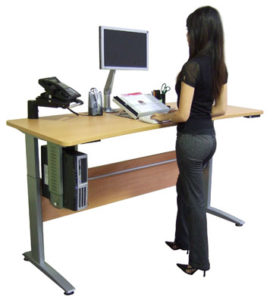 dangers of sitting - standing desk